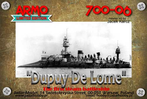 "Armo 700-06 1/700 ""Dupuy De Lome"" French Battle Cruiser 1890-91"